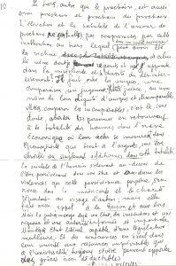 Levinas handschrift